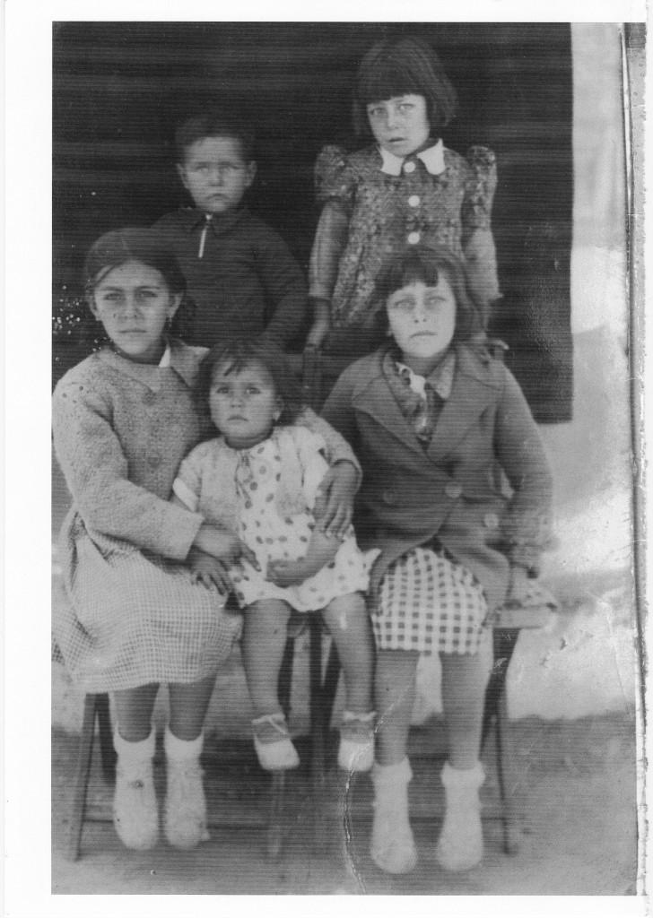 Mi padre con sus hermanas en torno a 1939